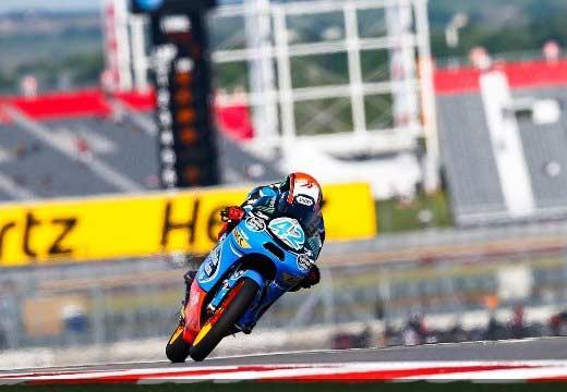 Alex Rins se lleva la pole de Moto3 en Austin