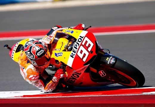 Márquez logra en Austin su primera pole de MotoGP
