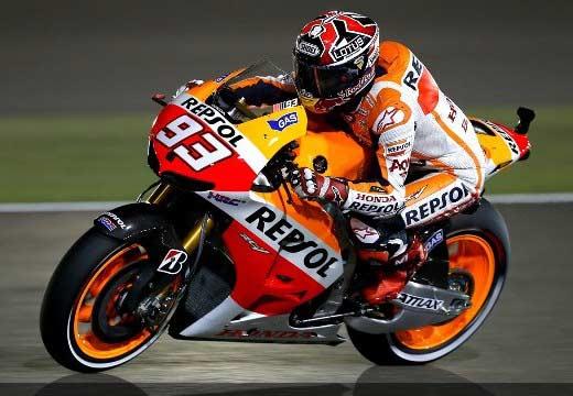 Márquez lidera el segundo libre de MotoGP