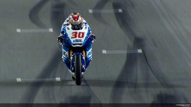 Nakagami durante el Warm Up de Moto2