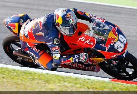 Salom marca un tiempazo y se lleva la pole de Moto3 en Montmeló