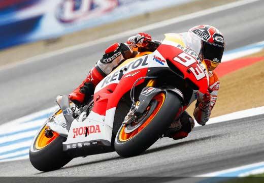 Márquez es el más rápido en su estreno en Laguna Seca