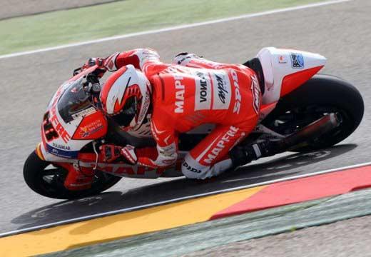 Nico Terol se regala su primera pole de Moto2 en Aragón
