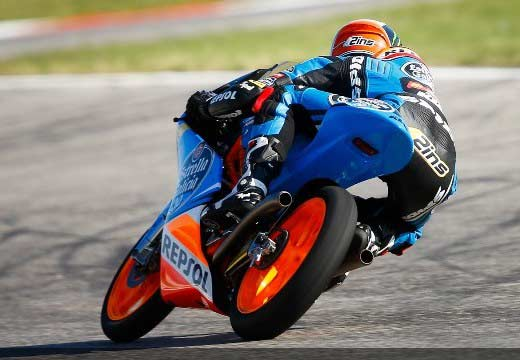 Victoria de Rins en Moto3 en Misano