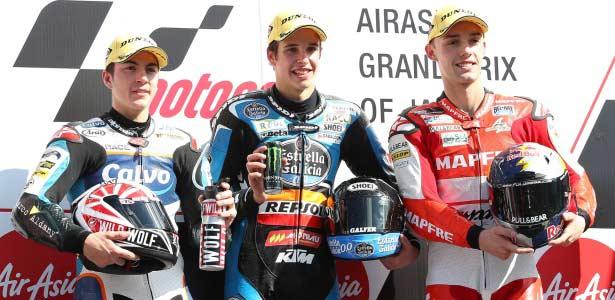 Alex Márquez vence por primera vez en Moto3