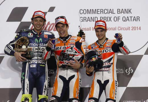 Márquez, Rabat y Miller ganan la primera del año en Qatar