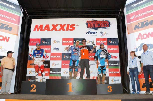 Podio Superfinal Élite MX1 La Bañeza 2014