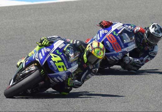 Rossi y Lorenzo llegan motivados al GP de Le Mans