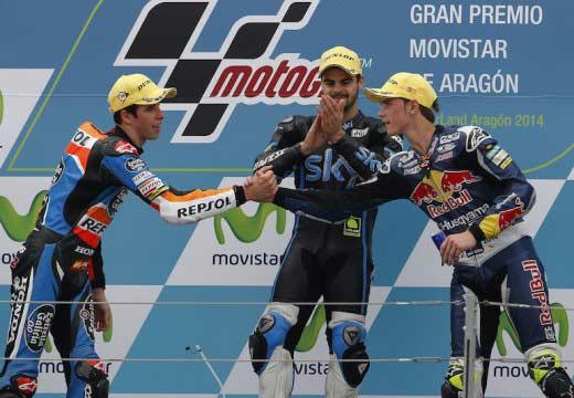 GP Aragón 2014: Romano Fenati reina en el caos de Motorland