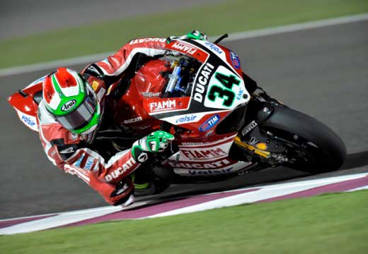 WSBK Qatar 2014: Giugliano lidera los primeros libres con Sykes a un segundo