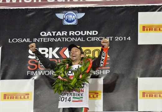WSBK Qatar 2014: Guintoli y Aprilia se proclaman campeones del mundo