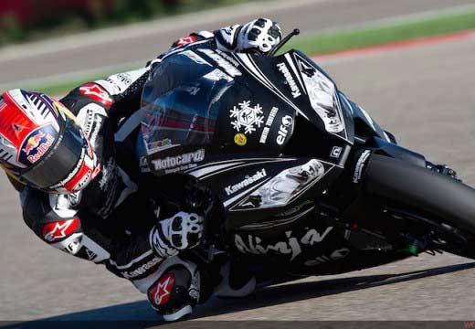 Jonathan Rea lidera en mojado en los test de Jerez